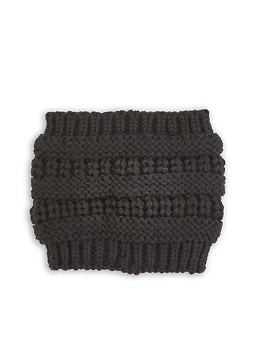 Knit Head Wrap | 1183071210048,BLACK,large