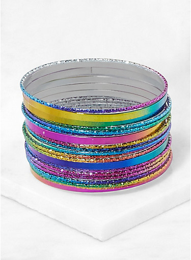 Multi Color Bangles,MULTI COLOR,large