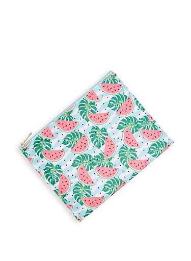 Watermelon Print Swimsuit Bag,MULTI COLOR,large