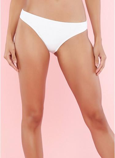White Bikini Bottom | Tuggl