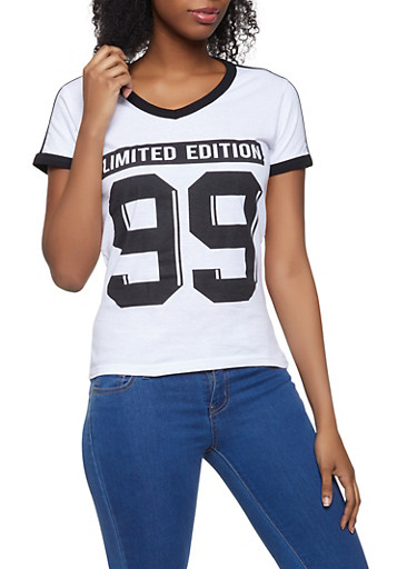 Limited Edition 99 Graphic Tee,WHITE,large