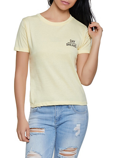 Day Dreamer Graphic Tee,YELLOW,large