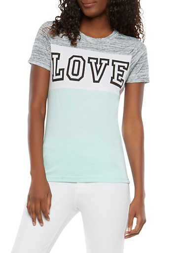 Love Graphic T Shirt,JADE,large
