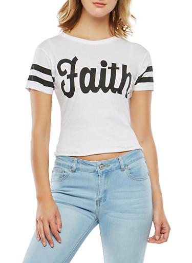 Faith Graphic Tee,WHITE,large