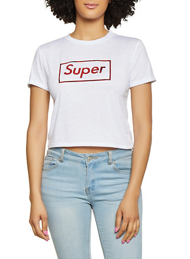 Super Foil Graphic Tee,WHITE,large