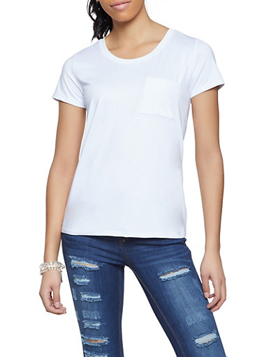Spandex Short Sleeve Top,WHITE,large