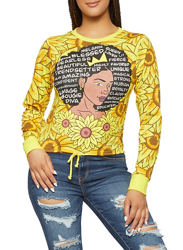 Déesse Sisterhood Femme Visages girlpower femme tissu imprimé par spoonflower BTY