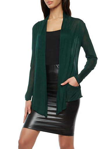 Light Weight Drape Front Cardigan | Tuggl