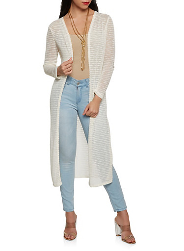 Striped Knit Duster | Tuggl