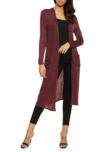Two Pocket Duster,WINE,large