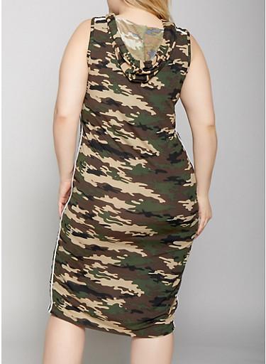 9106ff8b80385 Plus Size Slay Graphic Printed Tank Dress - Rainbow