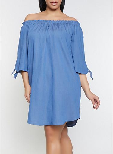 Off the Shoulder Peasant Dress