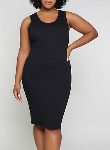Plus Size Solid Tank Dress | 1390074282511 - Rainbow