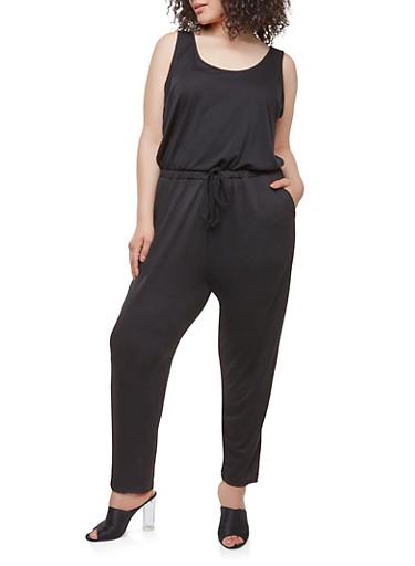 Plus Size Sleeveless Jumpsuit | Tuggl