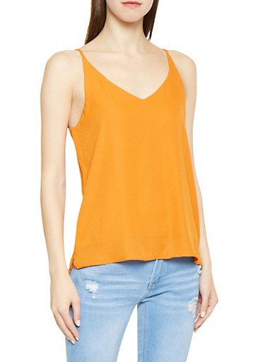 Crepe Knit Cami,RUST,large