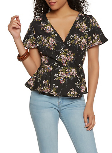 Floral Wrap Top | Tuggl
