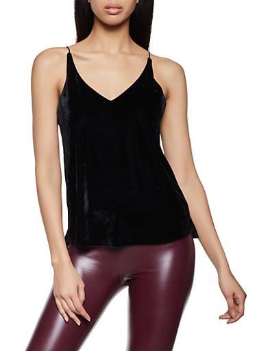 Velvet Cami,BLACK,large