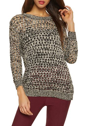 Shimmer Knit Sweater,GOLD,large