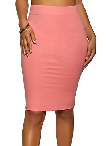 Solid Ponte Skirt,PEACH,large