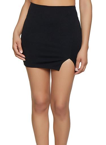 Ponte Mini Skirt,BLACK,large