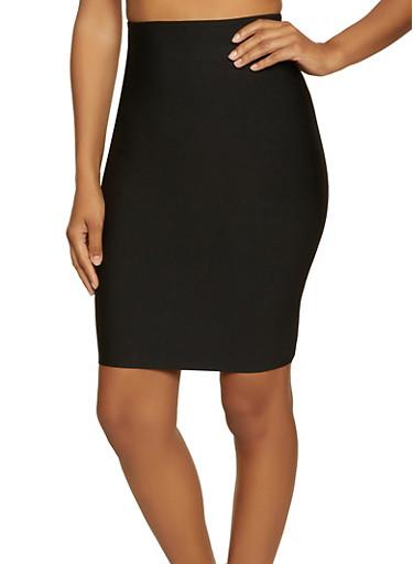 Ponte Pencil Skirt | 1406068197270,BLACK,large