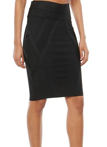 High Waisted Bandage Skirt,BLACK,large
