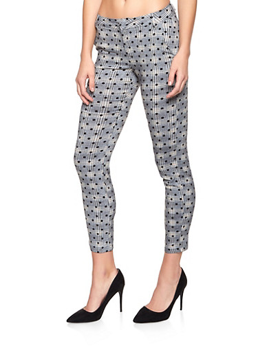Printed Dress Pants,MUSTARD,large