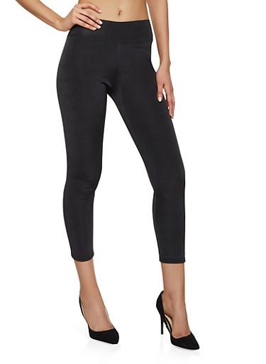 Faux Fur Lined Leggings,BLACK,large