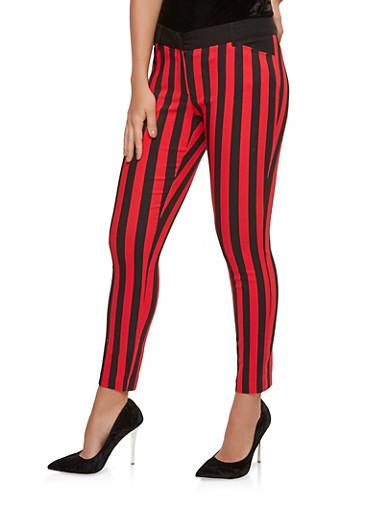 Printed Dress Pants,RED,large