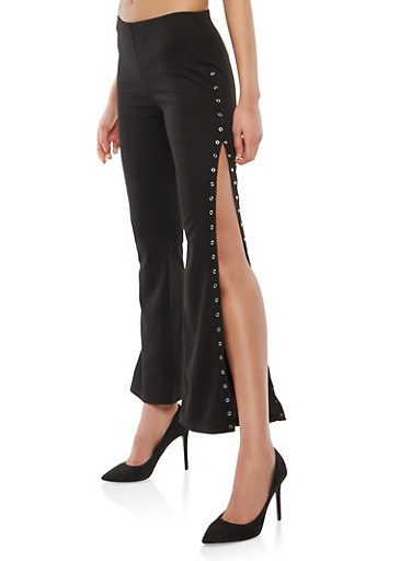 Flared Tear Away Pants,BLACK,large