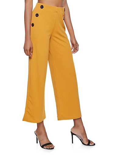Sailor Palazzo Pants,MUSTARD,large