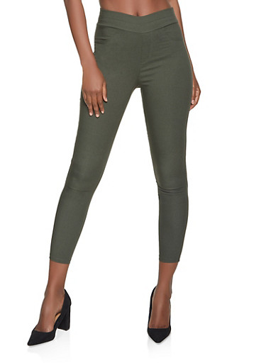 Twill Stretch Pull On Pants,OLIVE,large
