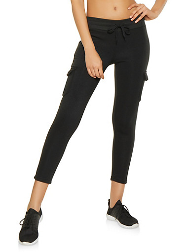 Cargo Sweatpants,BLACK,large