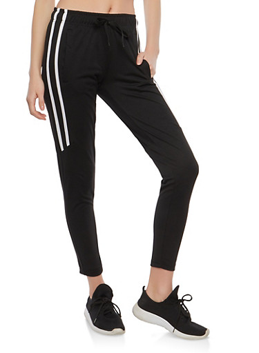 Side Stripe Joggers,BLACK,large