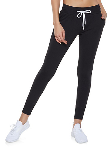French Terry Joggers,BLACK,large