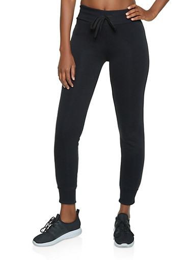 Fleece Basic Joggers,BLACK,large