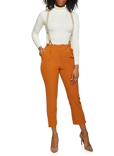 Suspender Pants,CAMEL,large