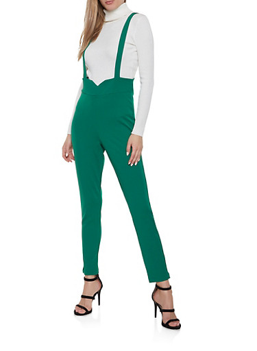 High Waisted Suspender Pants   1408056577084 by Rainbow