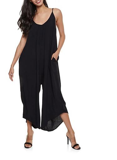 Oversized Cami Jumpsuit,BLACK,large