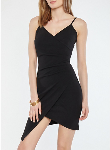Textured Knit Ruched Dress,BLACK,large