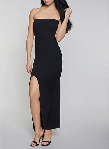 Tube Maxi Dress,BLACK,large