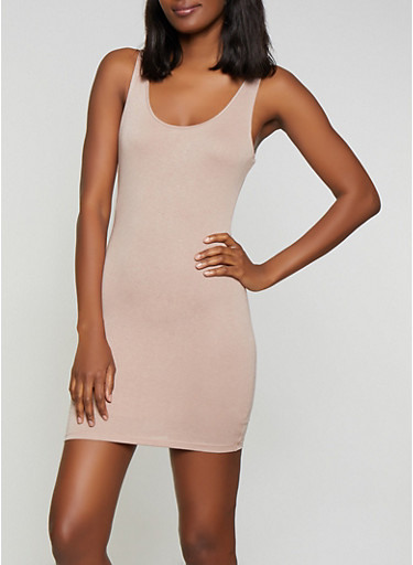 Crepe Knit Bodycon Dress | 1410069390674,NATURAL,large