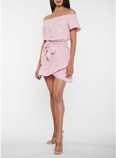 Off the Shoulder Ruffle Dress | Tuggl