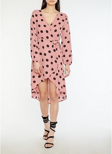 Polka Dot Wrap Dress at Rainbow Shops in Jacksonville, FL | Tuggl