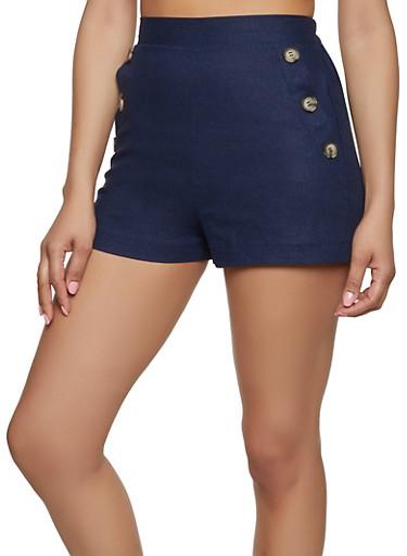 Linen Sailor Shorts,NAVY,large