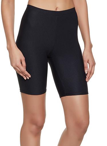 Ribbed Bike Shorts,BLACK,large