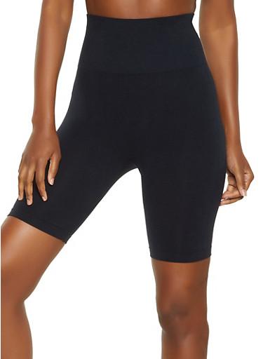Basic Bermuda Biker Shorts,BLACK,large