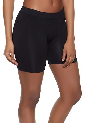 Seamless Bike Shorts | 1411062703852,BLACK,large