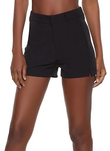 Dress Shorts,BLACK,large