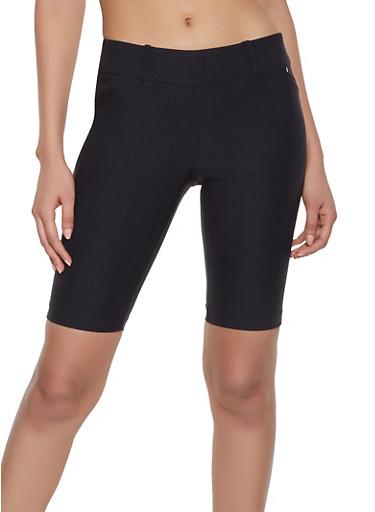 Stretch Bermuda Shorts,BLACK,large